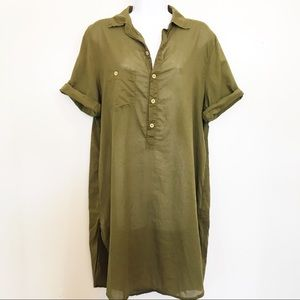 Free People x CP Shades olive, cotton tunic size S